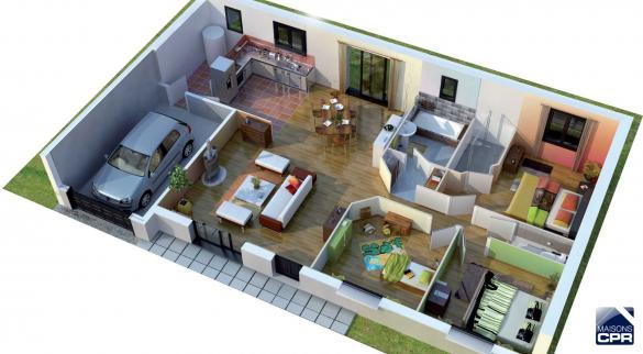 Maison à vendre .(75 m²)(PERNAY) avec (MAISONS CPR)
