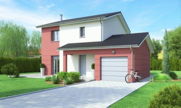 Maison+Terrain à vendre .(90 m²)(PERONNAS) avec (MAISONS AXIAL - BOURG EN BRESSE)