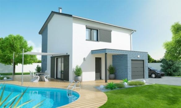 Maison+Terrain à vendre .(90 m²)(VILLIEU LOYES MOLLON) avec (MAISONS AXIAL - BOURG EN BRESSE)
