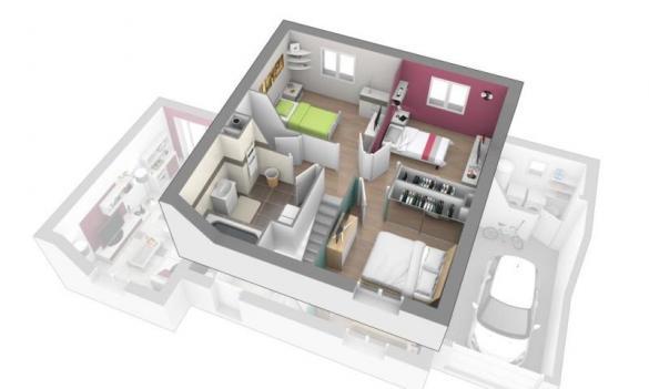 Maison+Terrain à vendre .(100 m²)(SAINT MARTIN DU MONT) avec (MAISONS AXIAL - BOURG EN BRESSE)