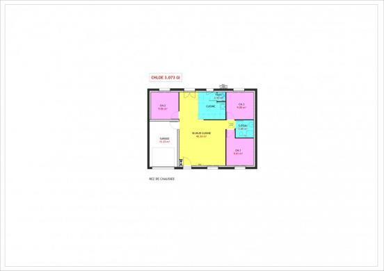 Maison à vendre .(73 m²)(CHATILLON LE DUC) avec (MAISONS PIERRE)