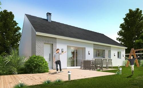 Maison+Terrain à vendre .(88 m²)(CAUMONT L'EVENTE) avec (HABITAT CONCEPT)