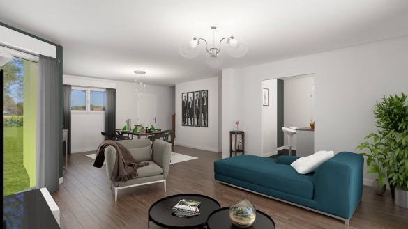 Maison+Terrain à vendre .(89 m²)(LE MOLAY LITTRY) avec (HABITAT CONCEPT)