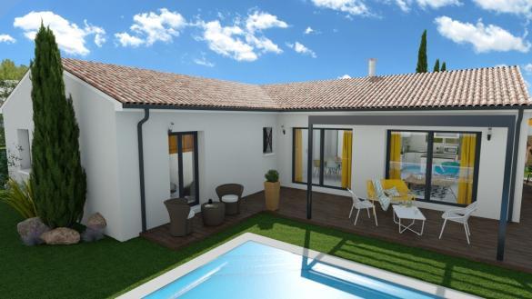 Maison+Terrain à vendre .(107 m²)(LE GUA) avec (MAISON FAMILIALE)