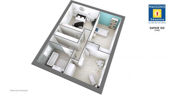 Maison+Terrain à vendre .(120 m²)(LE BLANC MESNIL) avec (MAISONS SESAME)