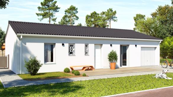 Maison+Terrain à vendre .(90 m²)(CASTELNAU DE MEDOC) avec (ALPHA CONSTRUCTIONS HOMEXPO BORDEAUX PANAMA)