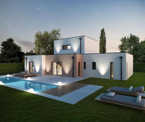 Maison+Terrain à vendre .(110 m²)(BEYCHAC ET CAILLAU) avec (ALPHA CONSTRUCTIONS ST LOUBES)