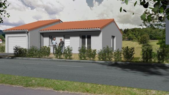 Maison+Terrain à vendre .(85 m²)(VIC LE COMTE) avec (TRADIMAISONS)