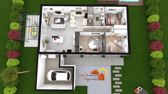 Maison+Terrain à vendre .(90 m²)(CHAROLLES) avec (LES DEMEURES REGIONALES)