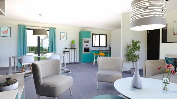 Maison+Terrain à vendre .(110 m²)(SAINT SYLVESTRE PRAGOULIN) avec (DEMEURES REGIONALES)