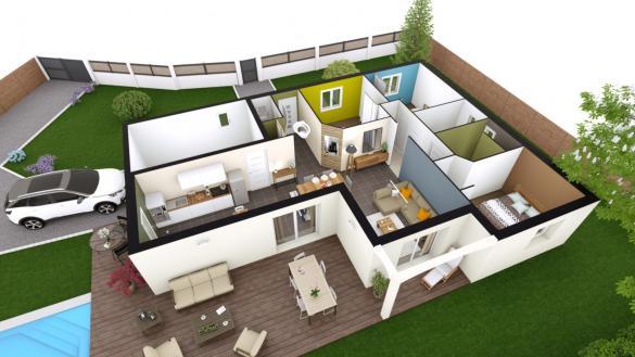 Maison+Terrain à vendre .(92 m²)(ESPINASSE VOZELLE) avec (LES DEMEURES REGIONALES)