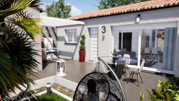Maison+Terrain à vendre .(68 m²)(PEZILLA LA RIVIERE) avec (MAISONS VIBEL)