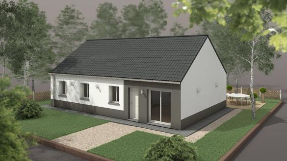 Maison+Terrain à vendre .(92 m²)(HEUDEBOUVILLE) avec (EXTRACO CREATION)