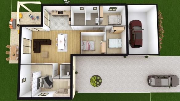 Maison à vendre .(140 m²)(CHATEAUROUX) avec (TRADI ATLAS)