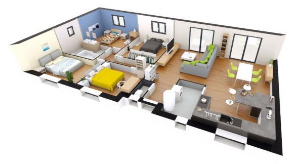Maison+Terrain à vendre .(114 m²)(BOURG ACHARD) avec (MAISONS EXTRACO)