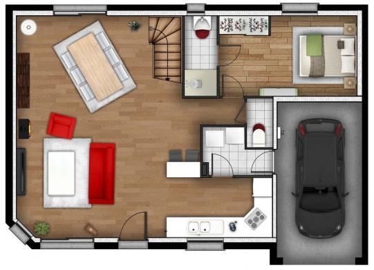 Maison+Terrain à vendre .(105 m²)(LA LONDE) avec (MAISONS EXTRACO)