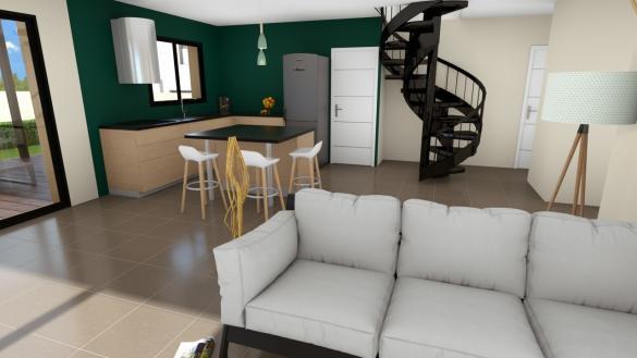 Maison+Terrain à vendre .(98 m²)(BRIVES CHARENSAC) avec (LOGIVELAY)