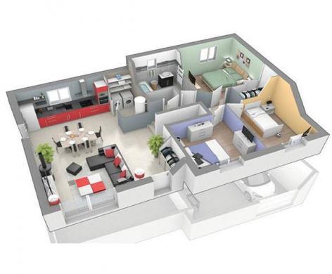 Maison+Terrain à vendre .(90 m²)(BRIVES CHARENSAC) avec (LOGIVELAY)