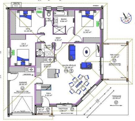 Maison à vendre .(97 m²)(SAINT PAUL LES DAX) avec (MAISONS D EN FRANCE SUD OUEST - AGENCE DE DAX)