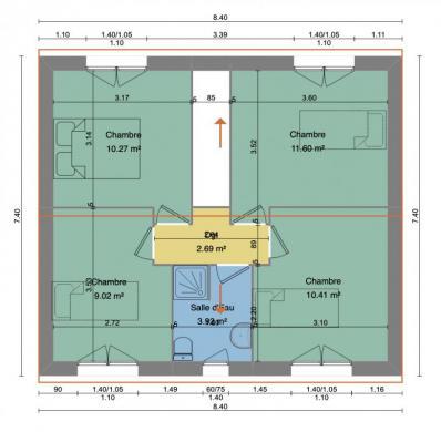 Maison+Terrain à vendre .(90 m²)(ANTONY) avec (MAISON 7 SENS)