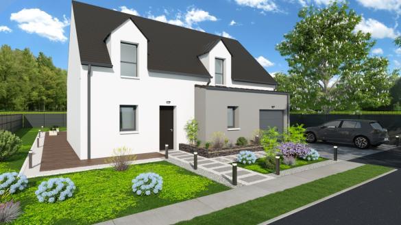 Maison+Terrain à vendre .(101 m²)(SAINT UNIAC) avec (MAISONS D EN FRANCE BRETAGNE - AGENCE DE RENNES)