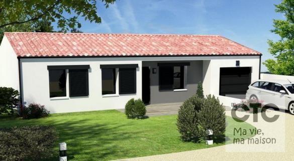 Maison à vendre .(85 m²)(JONZAC) avec (Charentes Techniques Constructions)