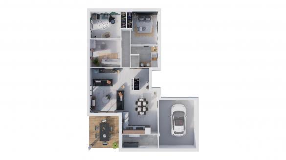 Maison à vendre .(105 m²)(SAINT GEORGES DE RENEINS) avec (NATILIA)