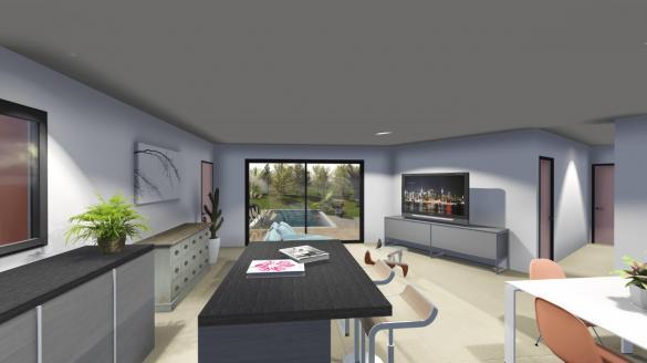 Maison+Terrain à vendre .(90 m²)(LA BATIE ROLLAND) avec (ATELIER DU BATIMENT)