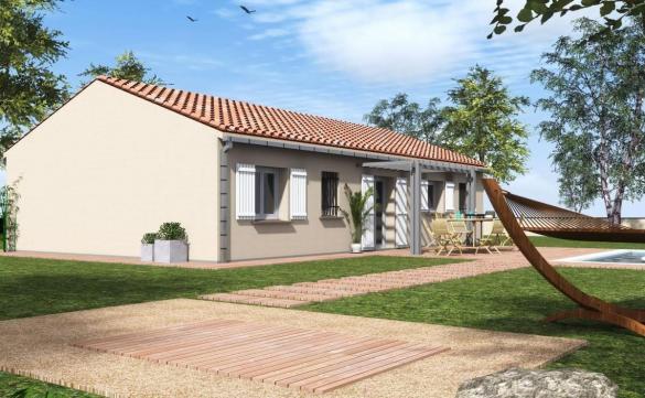 Maison à vendre .(80 m²)(LAURET) avec (ESQUISS CASTELNAU)