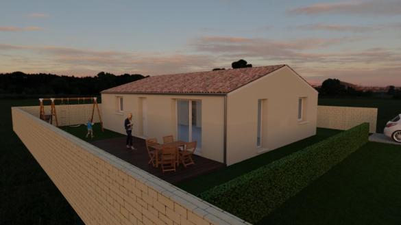Maison à vendre .(80 m²)(LANSARGUES) avec (ESQUISS CASTELNAU)