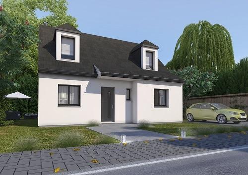 Maison+Terrain à vendre .(85 m²)(SAINT OUEN DU TILLEUL) avec (HABITAT CONCEPT)