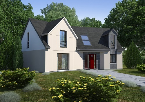 Maison+Terrain à vendre .(150 m²)(LE BOSC ROGER EN ROUMOIS) avec (HABITAT CONCEPT)