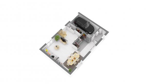 Maison+Terrain à vendre .(98 m²)(LE COUDRAY SUR THELLE) avec (MAISONS.COM)