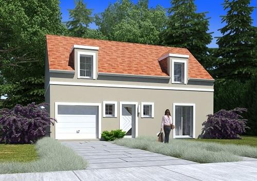Maison+Terrain à vendre .(98 m²)(MARINES) avec (MAISONS.COM)