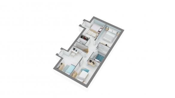 Maison+Terrain à vendre .(98 m²)(MERIEL) avec (MAISONS.COM)