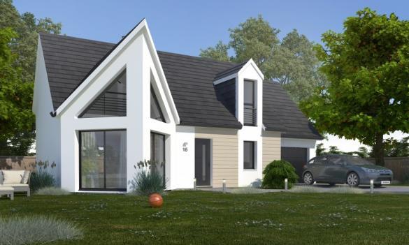 Maison+Terrain à vendre .(88 m²)(SAINNEVILLE) avec (MA MAISON CONSTRUCTION BOIS)