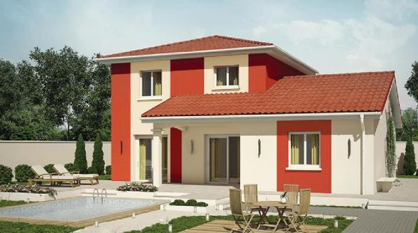 Maison+Terrain à vendre .(89 m²)(TULLINS) avec (Demeures Caladoises)