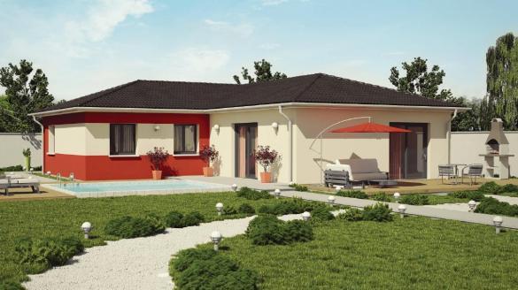 Maison+Terrain à vendre .(95 m²)(LA BATIE MONTGASCON) avec (Demeures Caladoises)