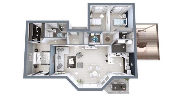 Maison+Terrain à vendre .(107 m²)(MAZEROLLES) avec (Maisons MCA Mont de Marsan)
