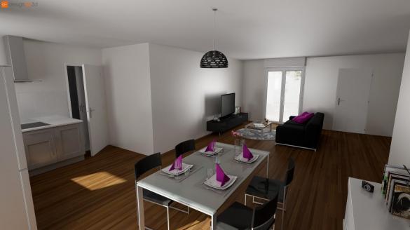 Maison+Terrain à vendre .(76 m²)(DREFFEAC) avec (MAISONS LE MASSON SAINT-NAZAIRE)