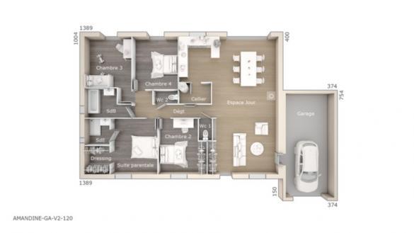 Maison+Terrain à vendre .(120 m²)(CHATEAUNEUF DU PAPE) avec (LES MAISONS DE MANON)