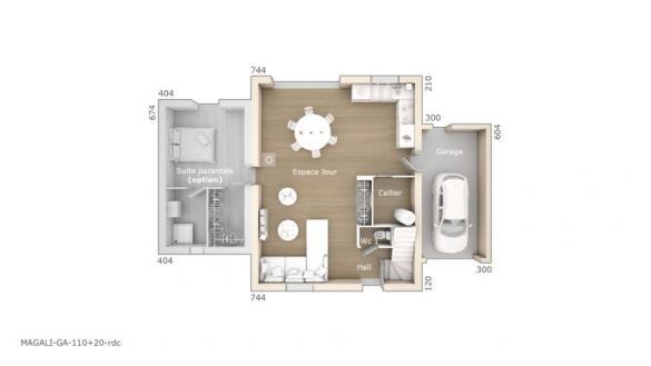 Maison+Terrain à vendre .(110 m²)(ROAIX) avec (LES MAISONS DE MANON)