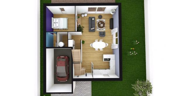 Maison+Terrain à vendre .(118 m²)(COLLEVILLE MONTGOMERY) avec (MAISONS BALENCY)
