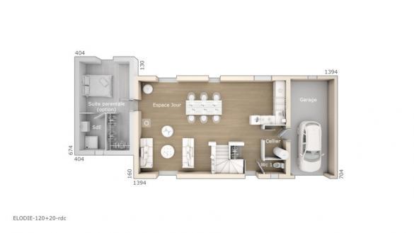 Maison+Terrain à vendre .(120 m²)(SAINT GILLES) avec (LES MAISONS DE MANON)