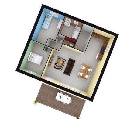 Maison+Terrain à vendre .(73 m²)(AUBIGNOSC) avec (MAISONS FRANCE CONFORT)