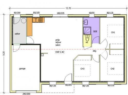 Maison+Terrain à vendre .(58 m²)(TRIAIZE) avec (LMP CONSTRUCTEUR)