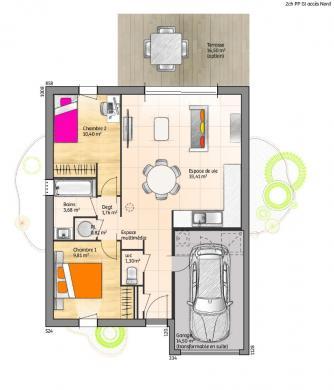Maison à vendre .(60 m²)(LA ROCHE SUR YON) avec (LMP CONSTRUCTEUR)