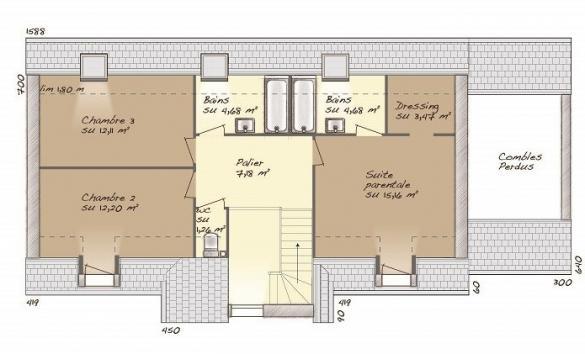 Maison+Terrain à vendre .(125 m²)(JOUARRE) avec (MAISONS BALENCY)