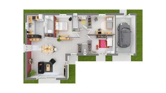 Maison+Terrain à vendre .(95 m²)(MONISTROL SUR LOIRE) avec (MAISONS FRANCE CONFORT)