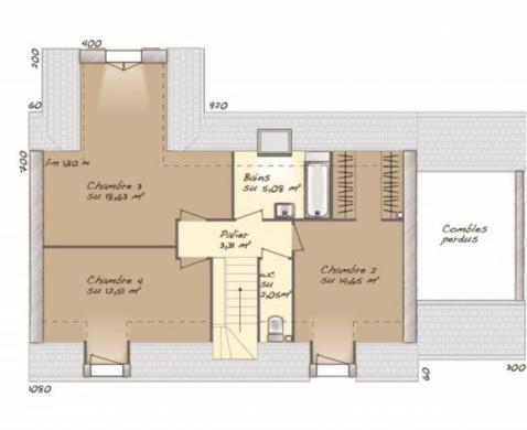 Maison+Terrain à vendre .(114 m²)(SAINT VRAIN) avec (MAISONS BALENCY)